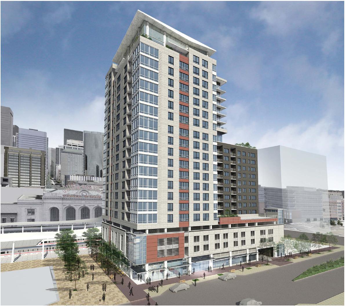 Denver 1650 Wewatta Street 230 Ft 70 M 21 Floors